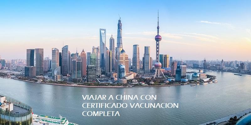 Viajar a China : PU Letter  o certificado de vacunación